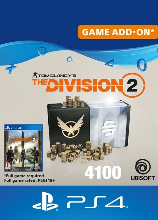 Tom Clancy's The Division 2 - 4100 Premium Credits Pack (PS4, Карта цифрового кода)